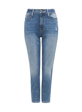 <b>BRIDGET</b><br/>Mide-Rise Boyfriend Jeans