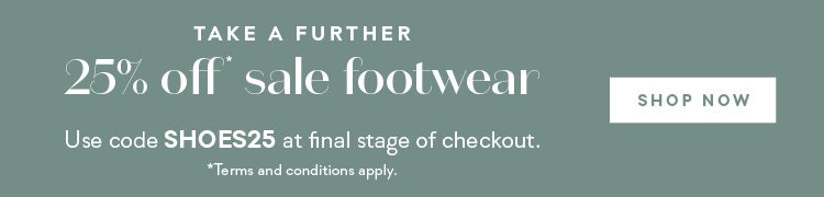 Take A Further 25% Off Sale Shoes
