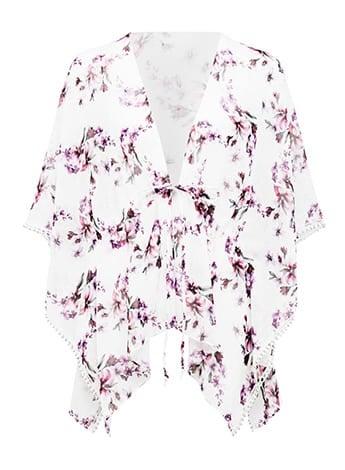 Debbie Floral Print Kimono