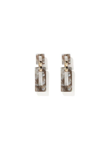 Delta Resin Link Drop Earrings