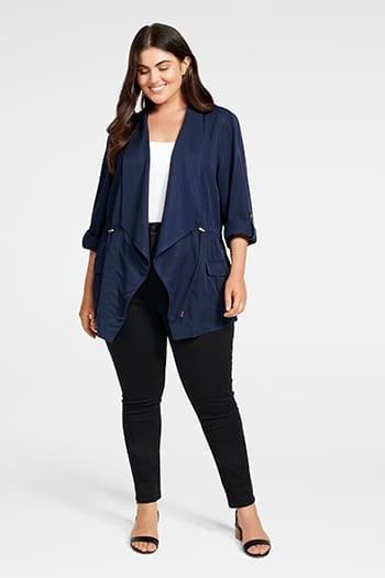 <b>Eliza</b><br>Curve Mid Length Jacket