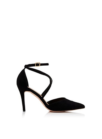 Emily Pointed Cross Strap Court Heels