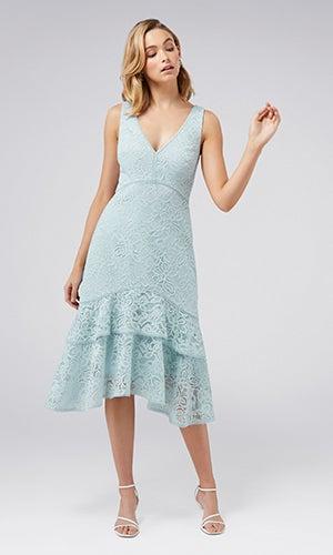 <b>Florentine</b><br>Lace-Tiered Dress