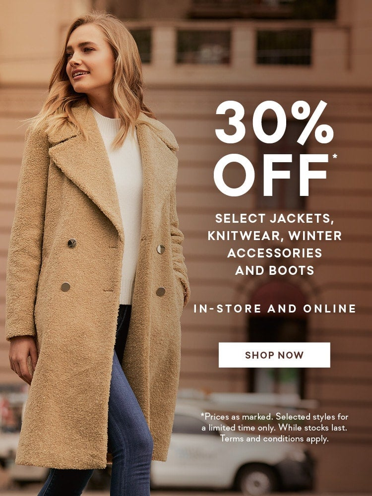 30% off winter warmers promotion