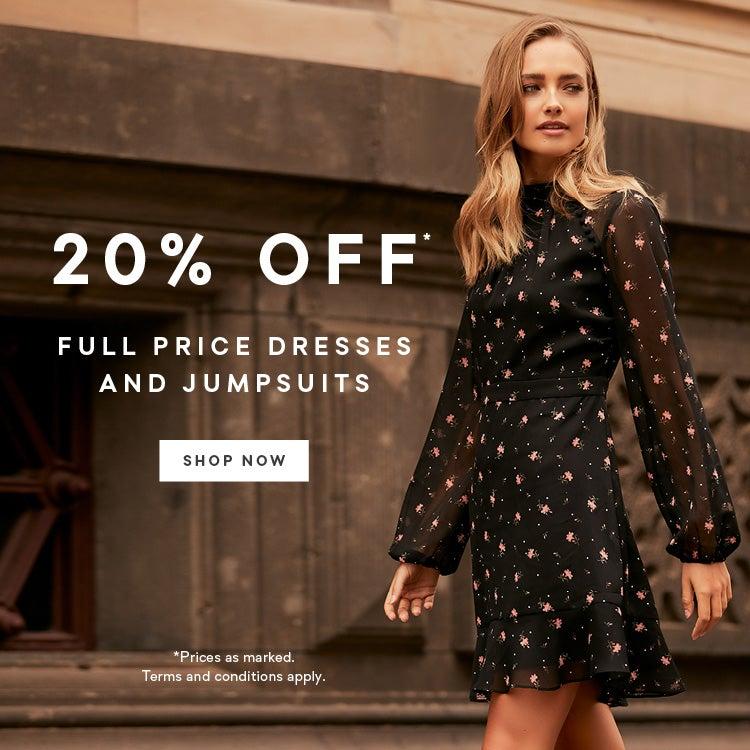 502d0fa367 20% Off  Full Price Dresses   Jumpsuits