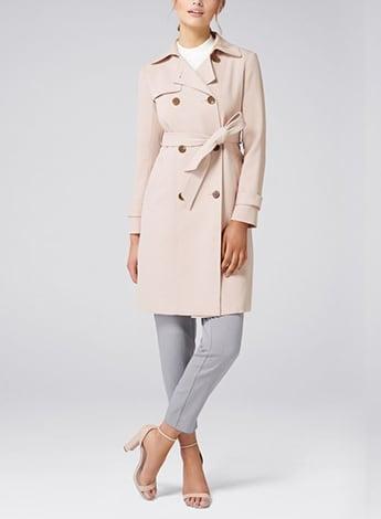 Juliana Long Textured Trench Coat