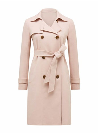 Juliana Long Textured Trench Coat