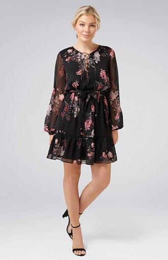 <b>Lana Petite</b><br />Lace Up Mini Dress