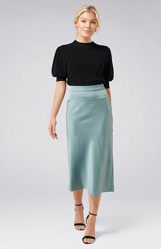 <b>Livia Petite</b><br />Satin Slip Skirt