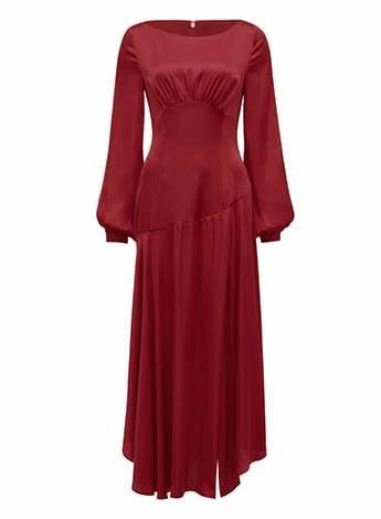 Melody Satin Split Front Dress
