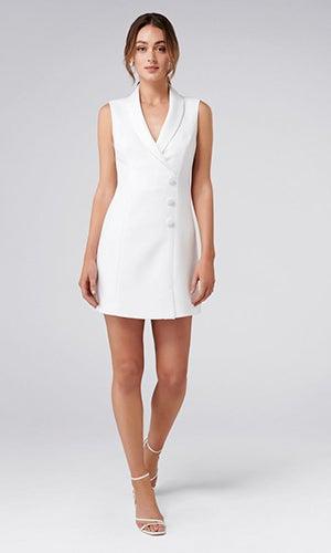 <b>Nala</b><br>Sleeveless Tuxedo Dress