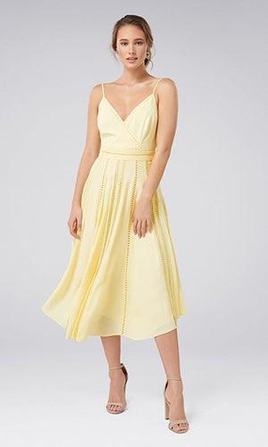 <b>Naomi</b><br>Lace Insert Midi Dress