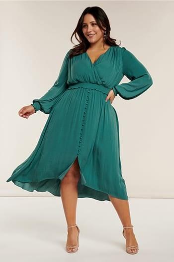 <b>Eva</b><br>Curve Shirred Waist Dress