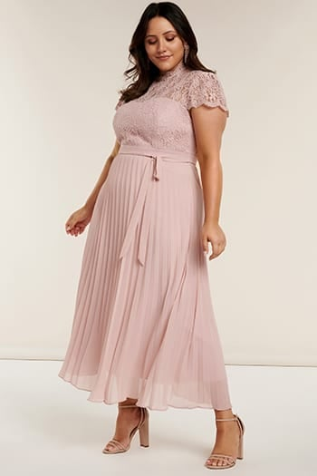 <b>Josephine</b><br>Curve Pleated Maxi Dress