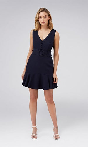 <b>Pauline</b><br>Belted Flippy Hem Dress