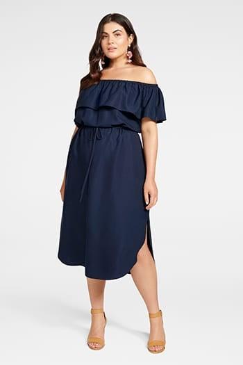 <b>Ruby</b><br>Bardot Curve<br>Maxi Dress