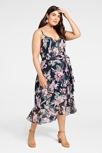 <b>Sofia</b><br>Ruffle Midi<br>Curve Dress