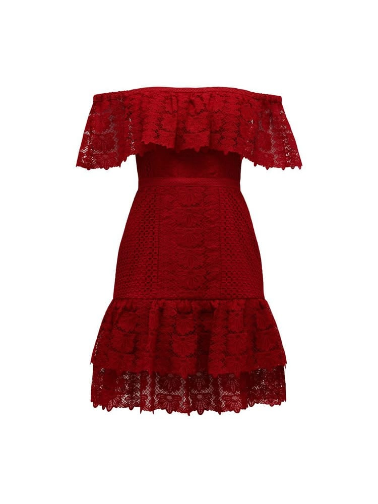 Ruby Off-Shoulder Lace Dress