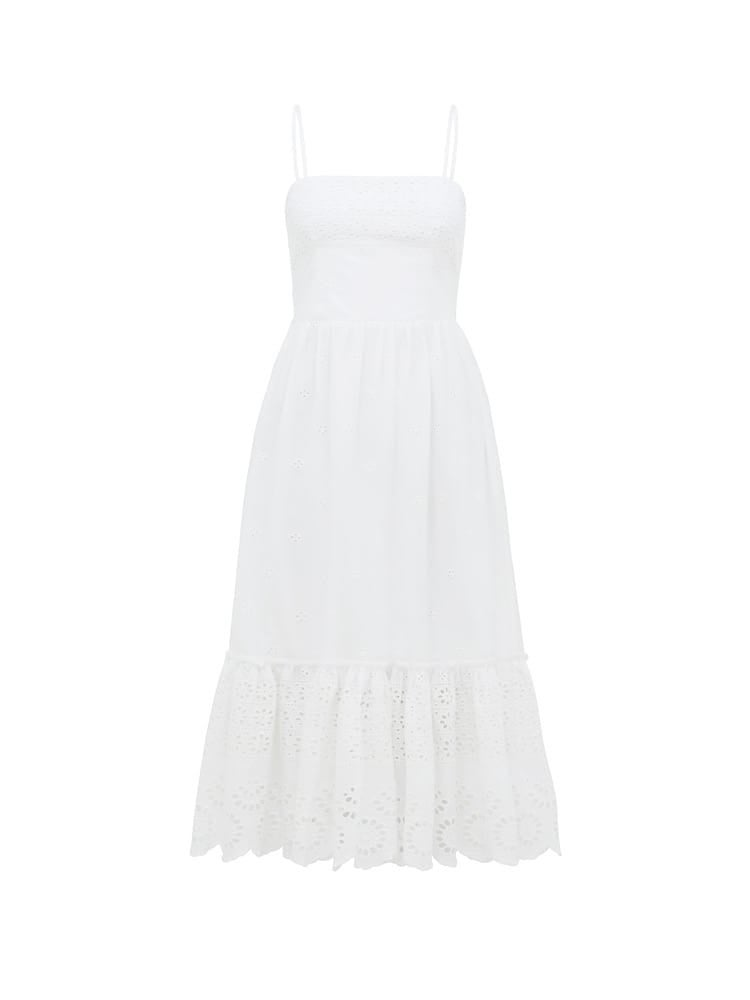 Sierra Broderie Cotton Dress