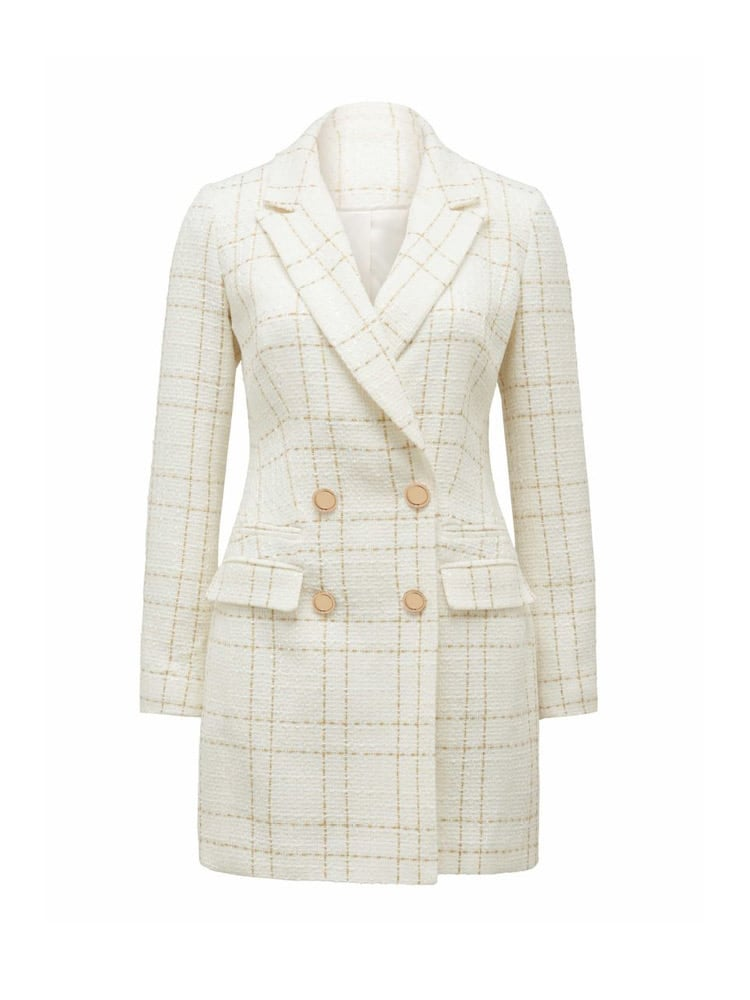 Sunny Bouclé Check Dress Jacket