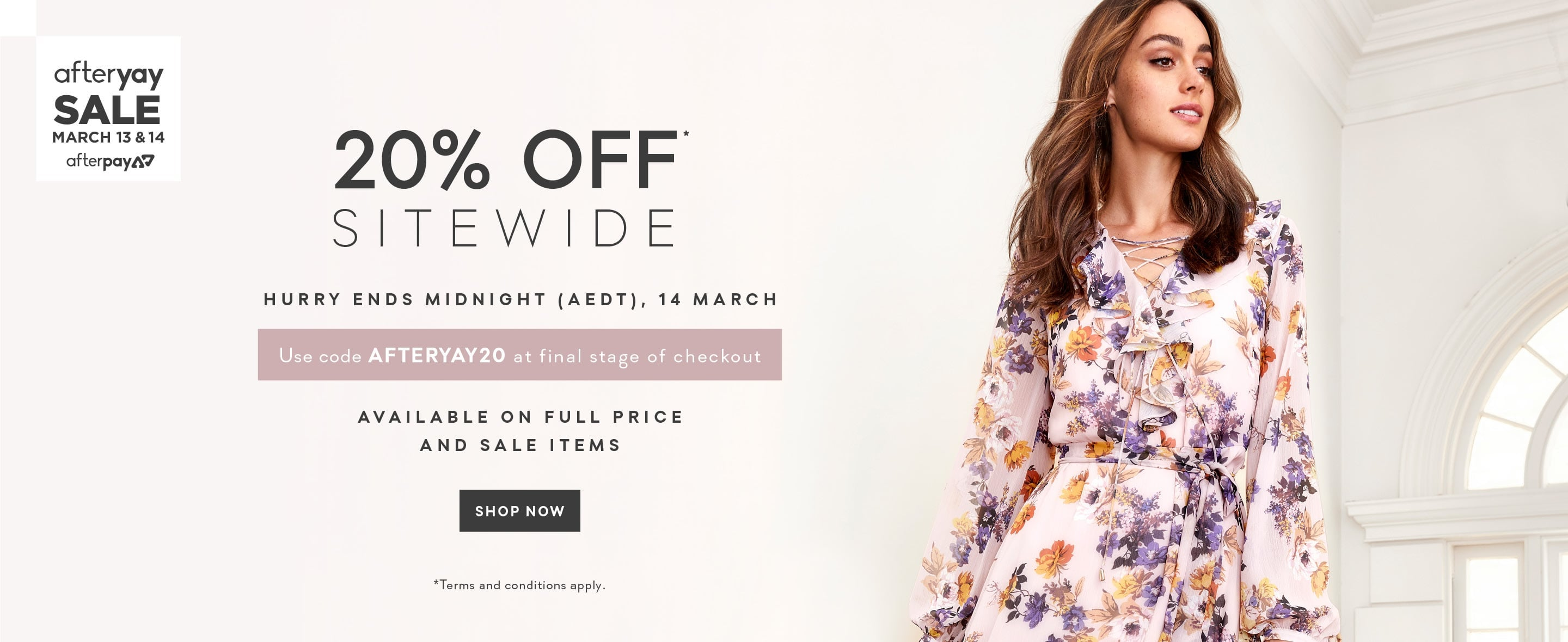 AfterYAY Sale 20% Off Sitewide