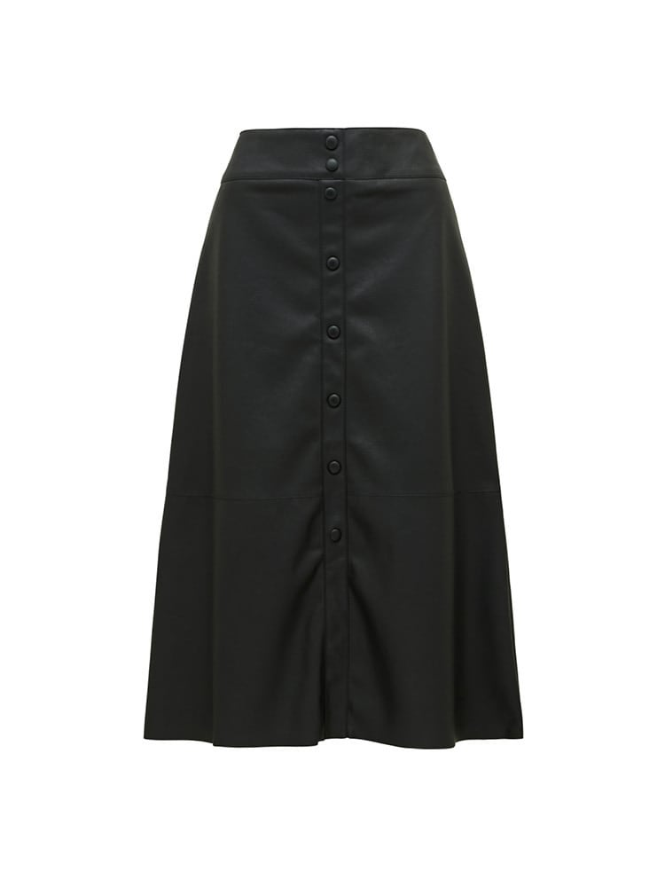 Abbie A-line PU Pencil Skirt