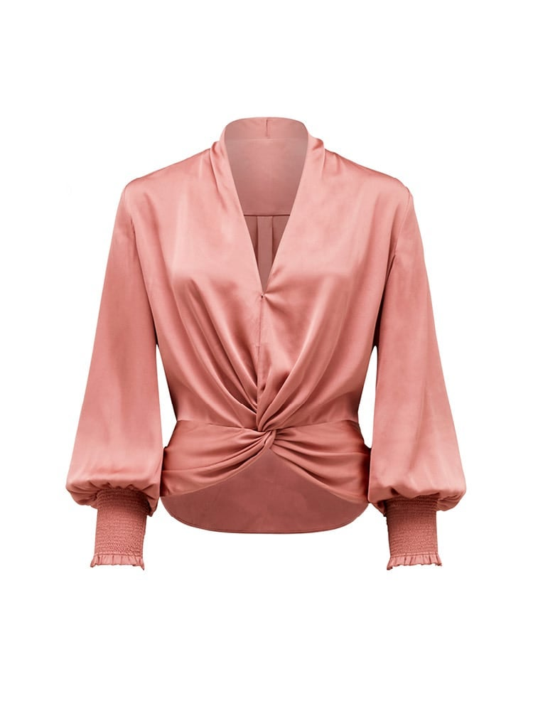 Cynthia Satin Twist Blouse