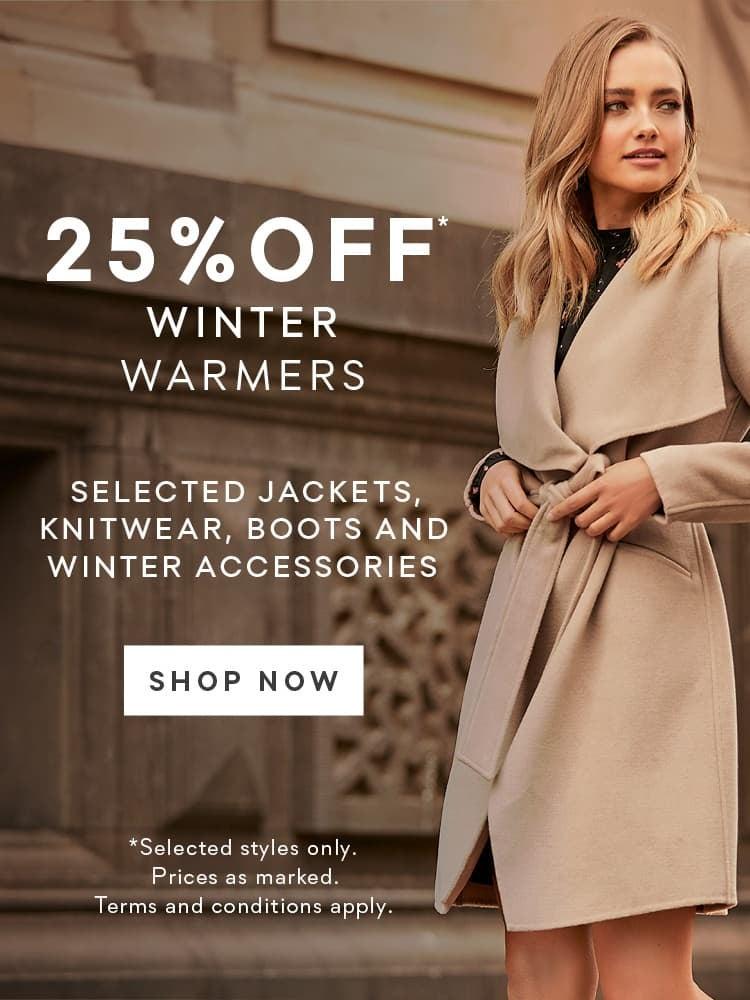 25% Off Winter Warmers