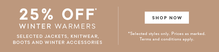 25% Off Full Winter Warmers