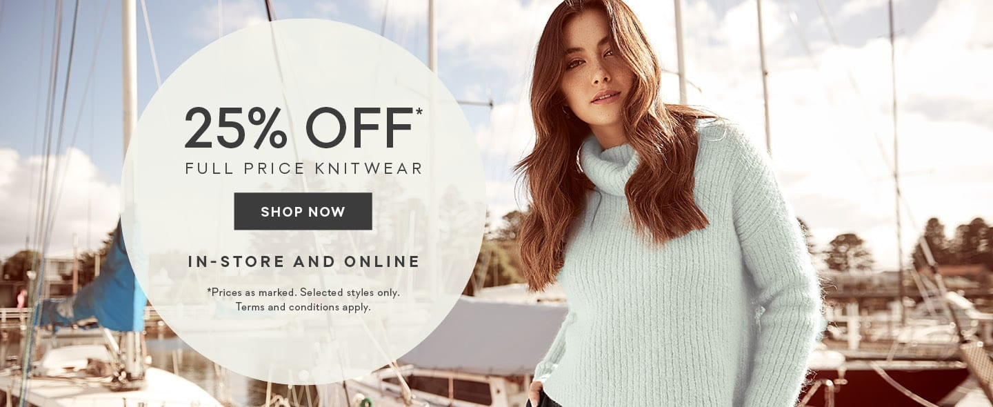 8f6ed45de180 25% Off* Full Price Knitwear | Cardiagans & Sweaters | Forever New
