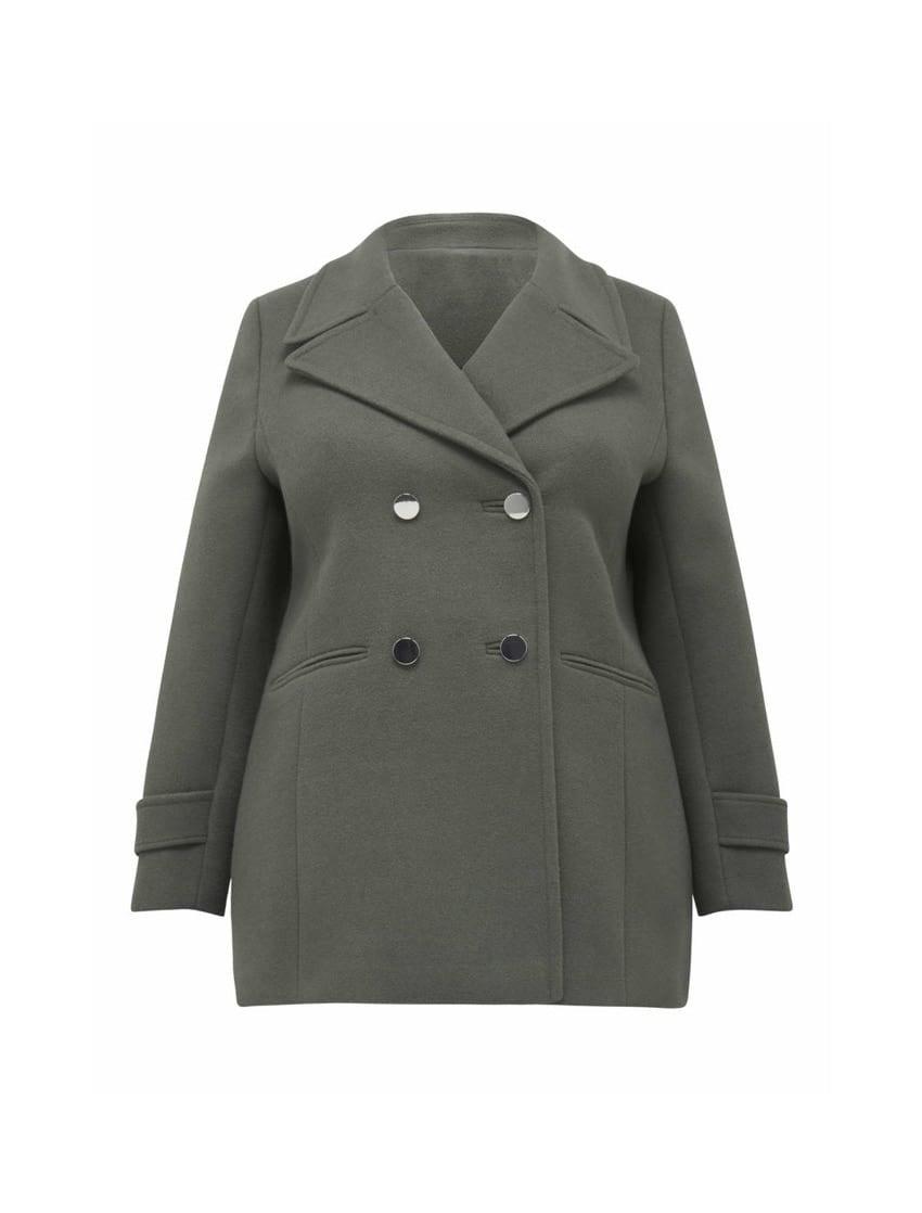 Hailey Curve Pea Coat