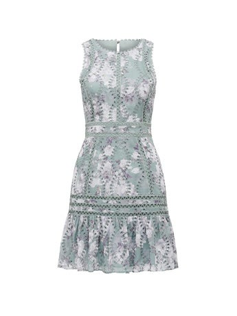Blair Printed Broderie Dress