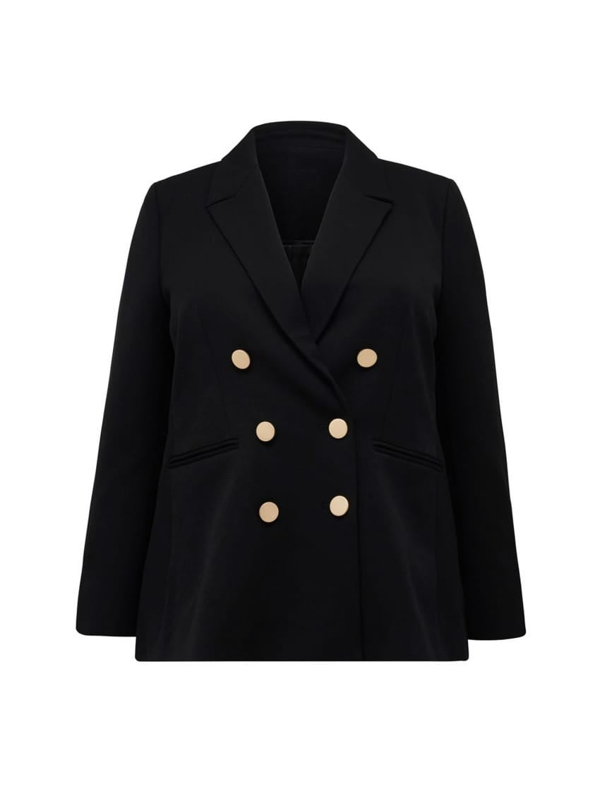 Eloise Curve Double-Breasted Blazer