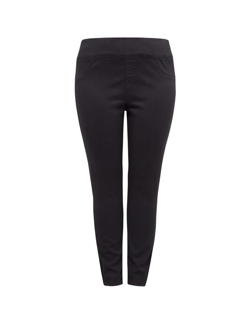 Charlotte Curve Button High-Rise Jeggings
