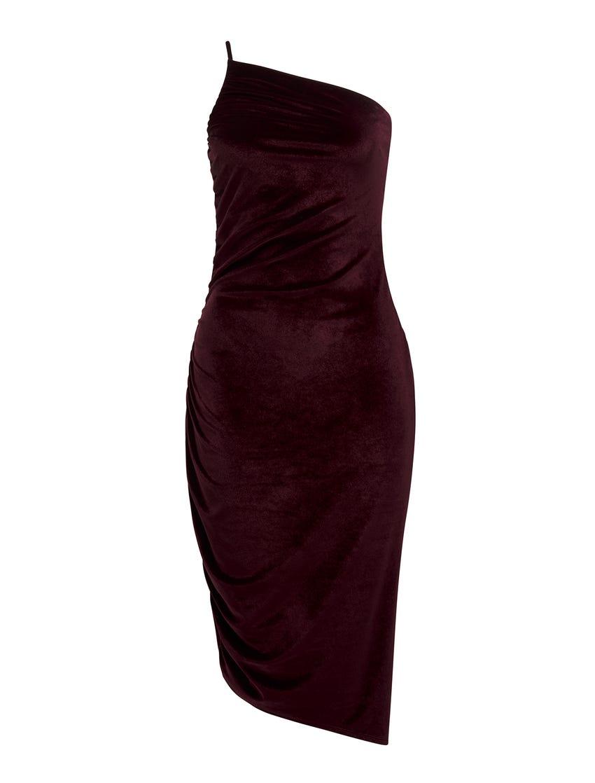 Luann Strappy Velvet Midi Dress
