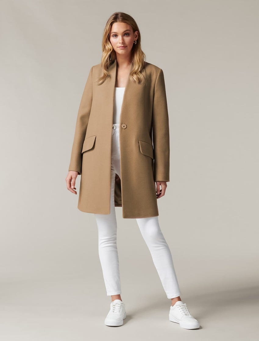 1. Alison Cocoon Coat camel