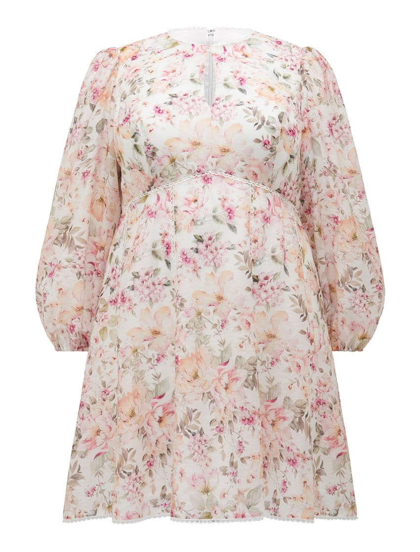 Luca Curve Trim Detail Mini Dress
