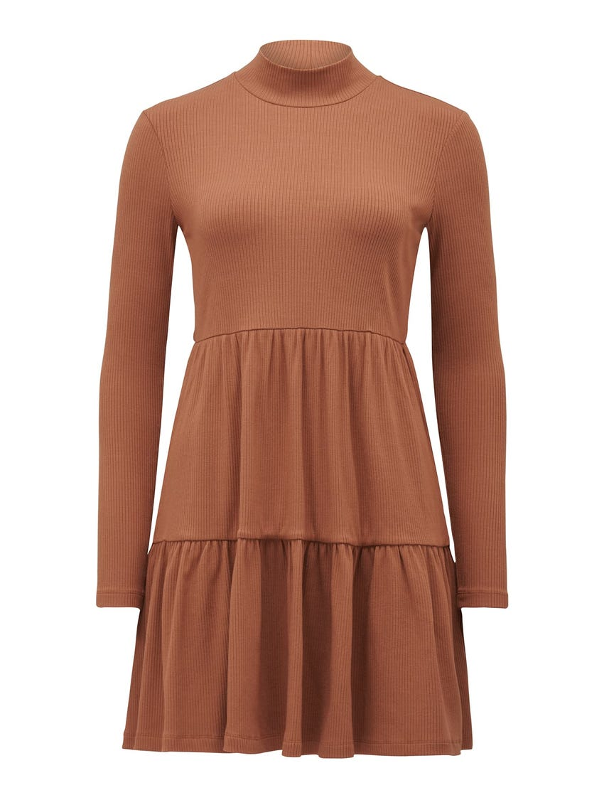 Sloane Long-Sleeve Smock Dress