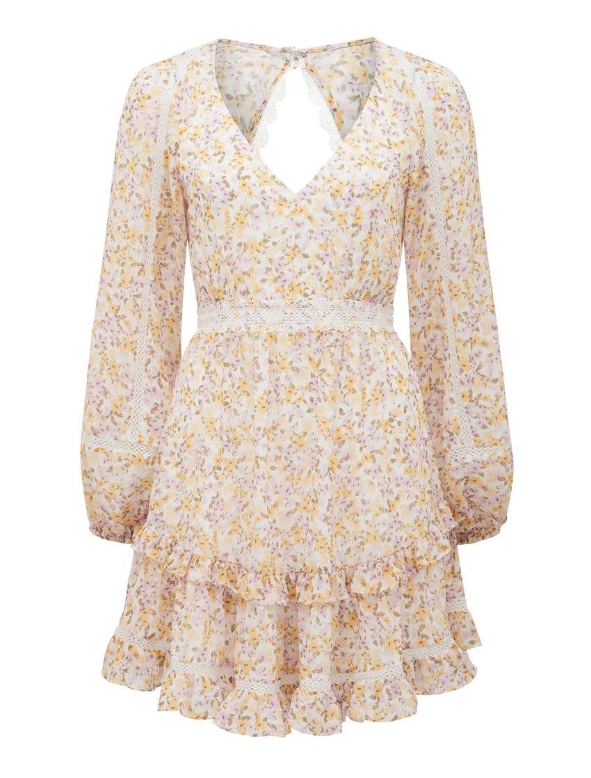 Jane Trim Splice Mini Dress