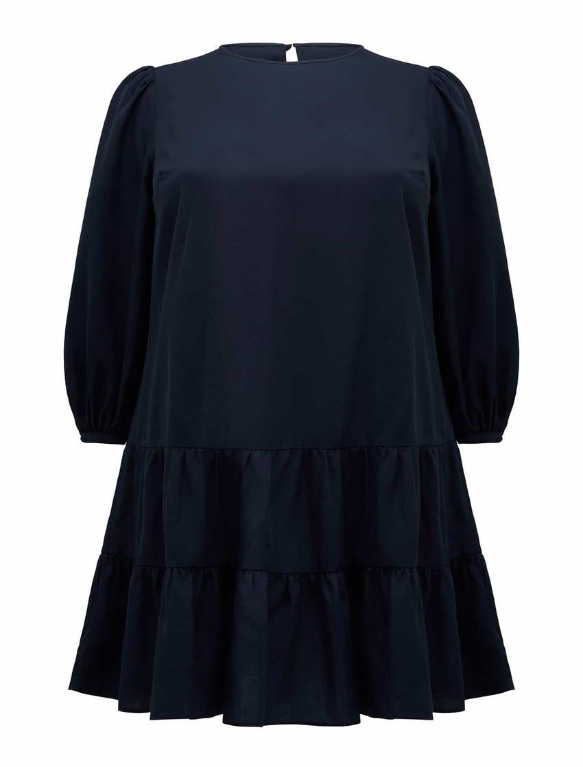 Tara Curve Tiered Smock Dress