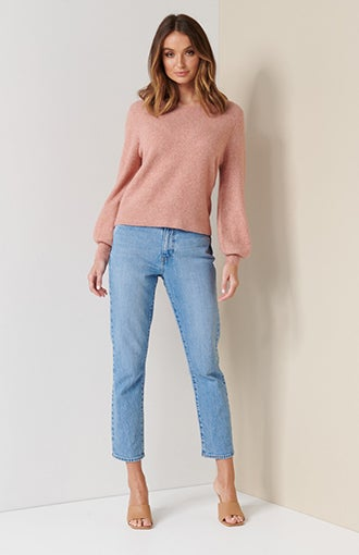 Elissa Blouson Sleeve Wool Jumper