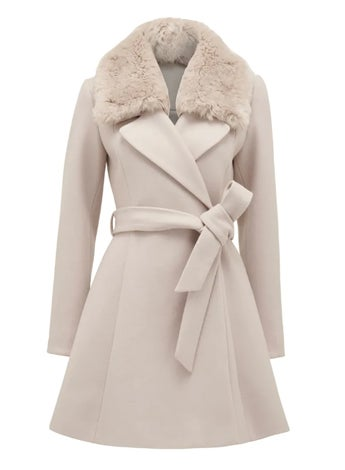 Jenna Fur Collar Coat