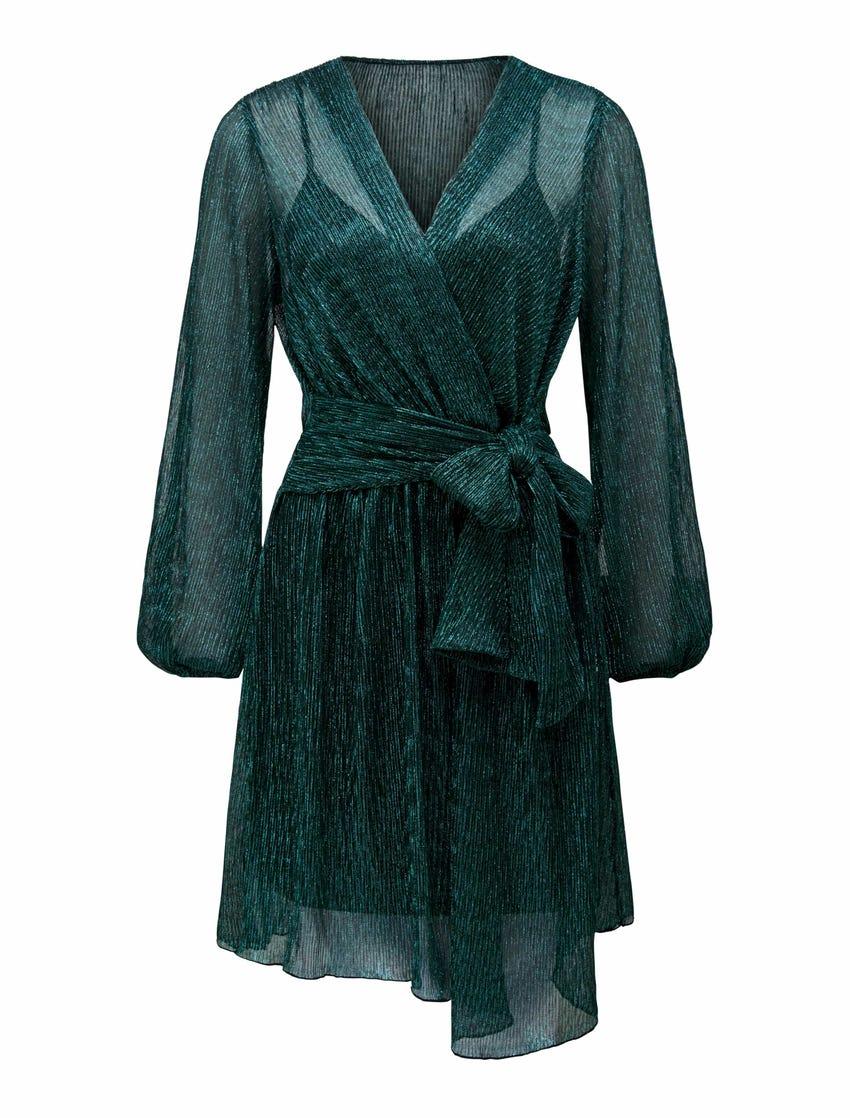 Silvia Plisse Mini Dress