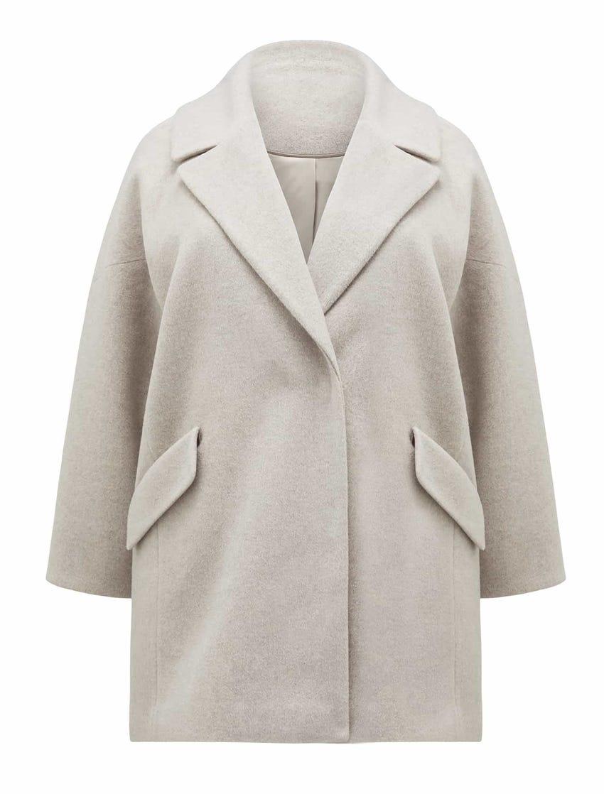 Cosmos Curve Cocoon Coat