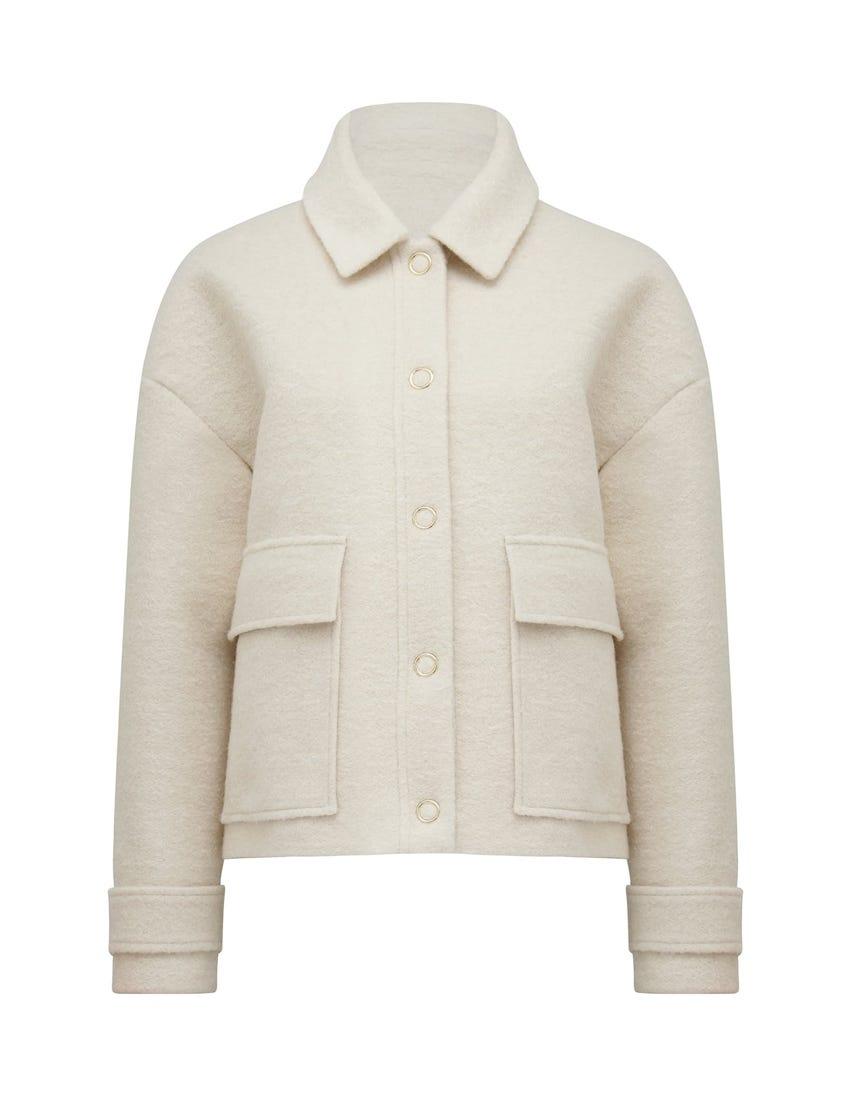 Melanie Cropped Borg Jacket