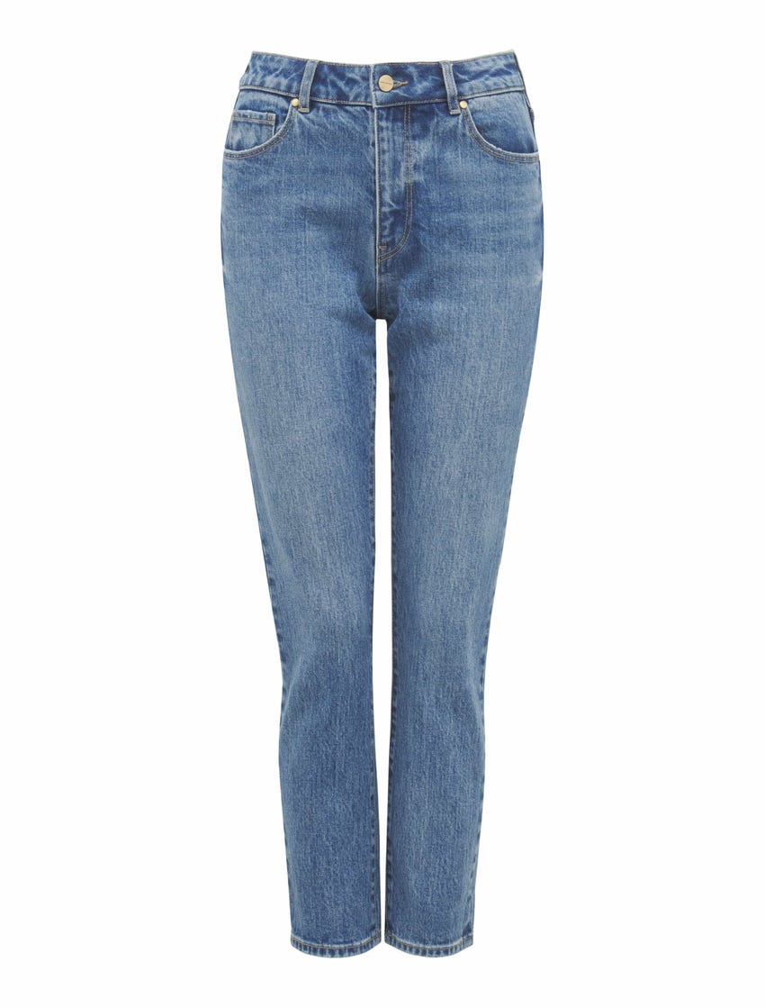 Isabel Mid-Rise Straight Leg Jeans