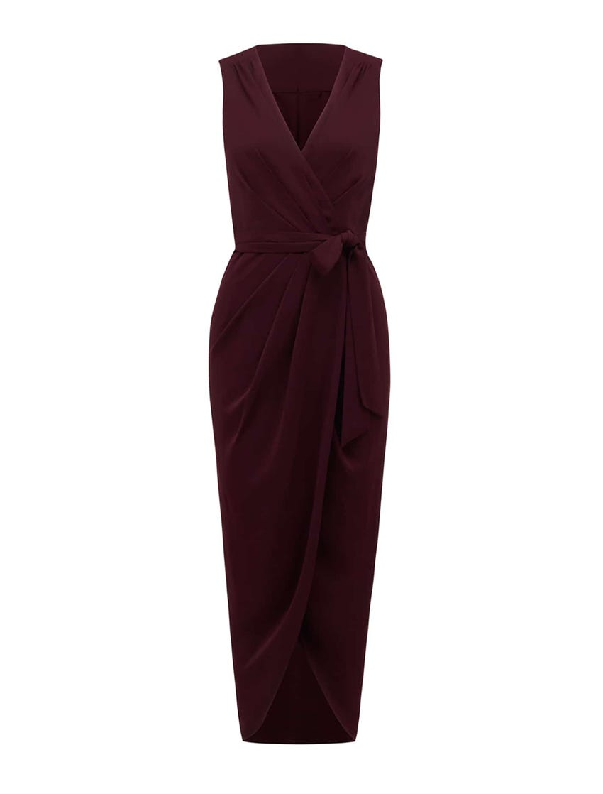 Liza Wrap Midi Dress