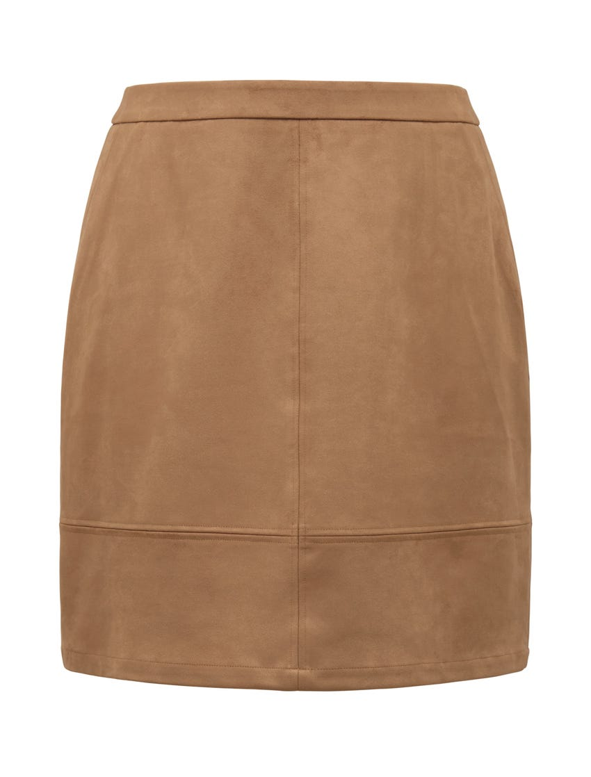Mira Curve Suedette Skirt
