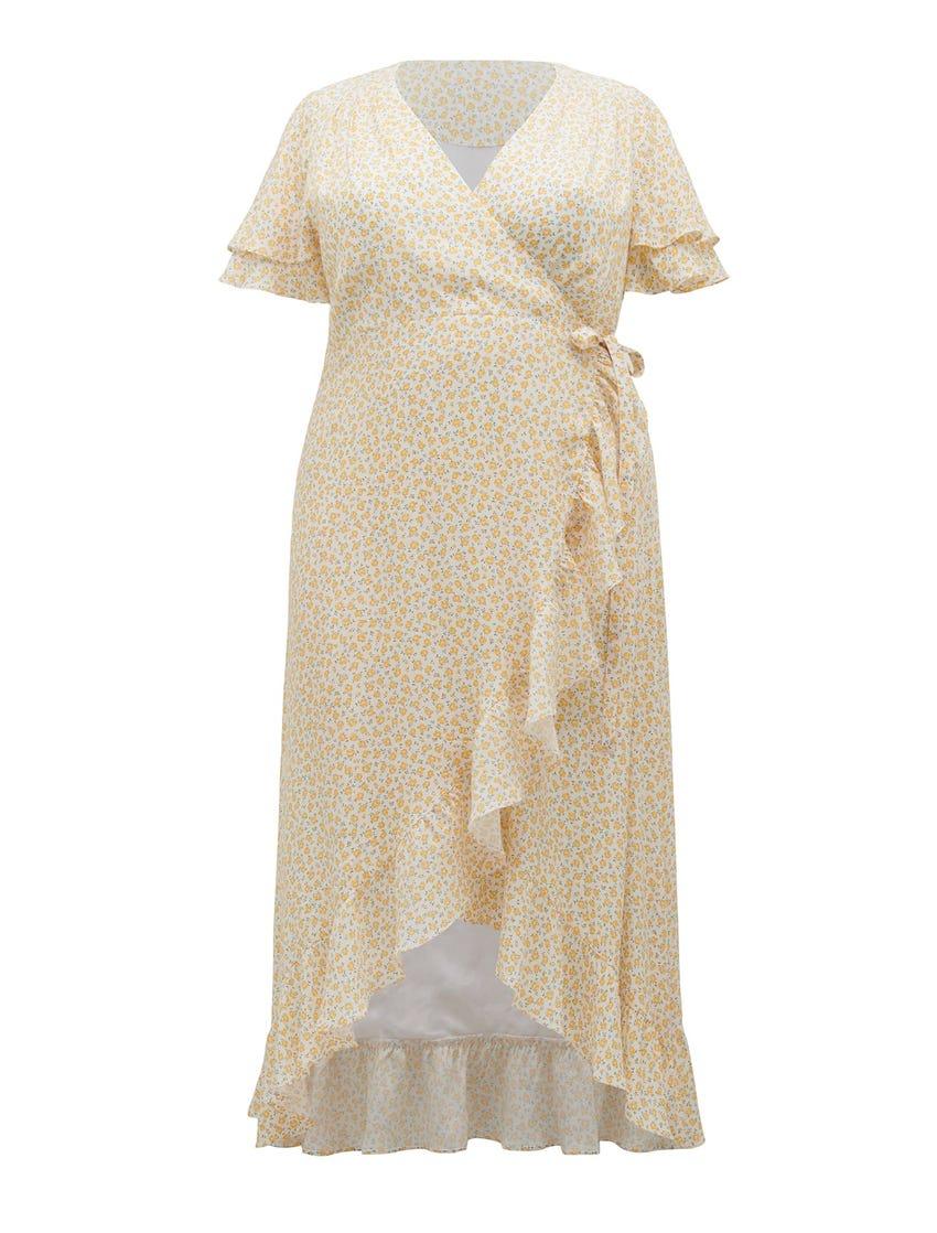 Alexis Curve Wrap Dress