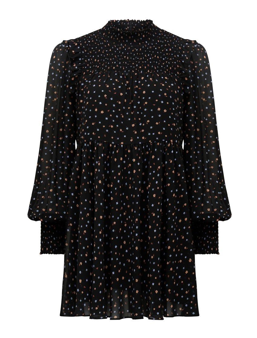 Amity Petite High-Neck Mini Dress